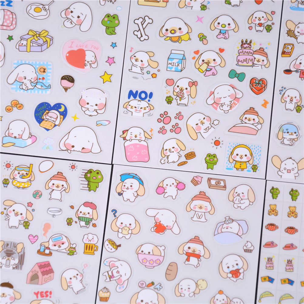 Stationery Stickers 6 Pcs/set Big Ears Happy Dogs Stickers Diary Sticker Scrapbook Decoration Pvc Stationery Stickers Fixing Prices According To Quality Of Products
