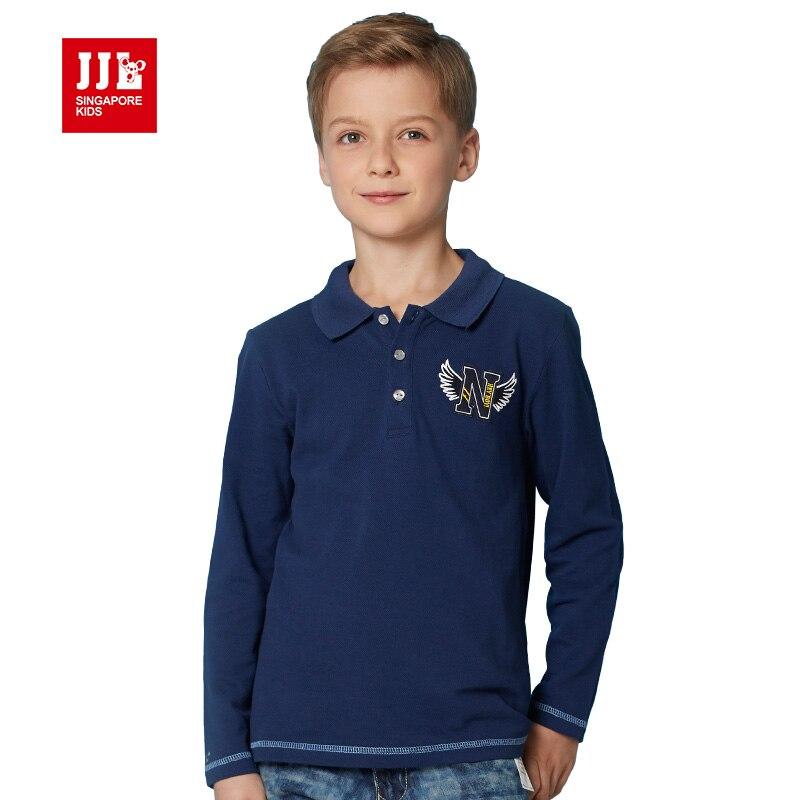 Boys polo shirt long sleeve 2016 fall new arrival boys for 7 year old boy shirt size