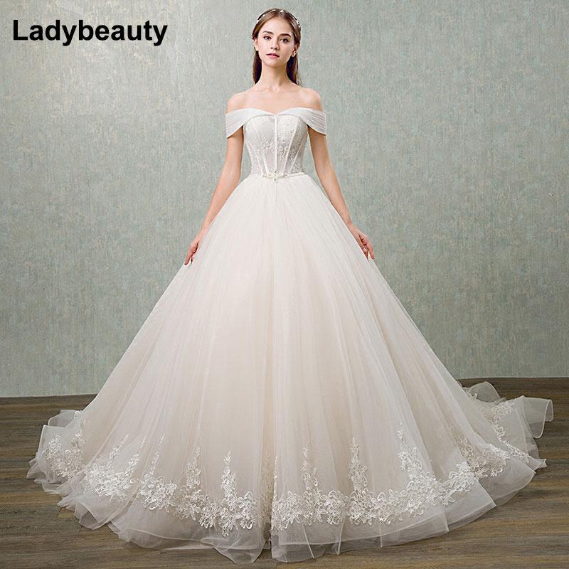 2018 rutulio suknelei vestuvių suknelė vestuvių musulmonų plius - Vestuvių suknelės