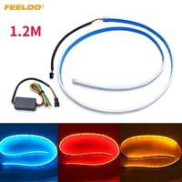 FEELDO 3 Color 1 2m Car Rear Tail Box Light Streamer Brake Turn Signal LED Strip