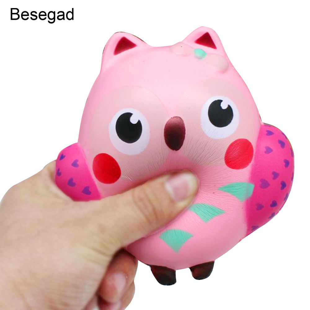 Squishy Toys Review : Besegad Slow Rising Squishy Toy Owl Shape Relieves Stress Toy Decompression Squeeze Toy for ...