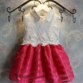 Девушки кружева платье принцессы воротник рукавов новый год платье рождество дети летнее платье Roupas Infantis Menina Vestidos Infantil