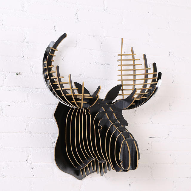 Houten Carving Dieren Hoofd Kroon Moose Art Hout Dieren Hoofd Voor Woonkamer Wandkleden Meubels Woondecoratie Iw Wd017 Head Crown Head Headhead Animal Aliexpress