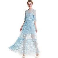 2018 Summer Chiffon Dress Vintage Style Party Maxi Dresses Lotus Leaf Two Piece Set Elegant F