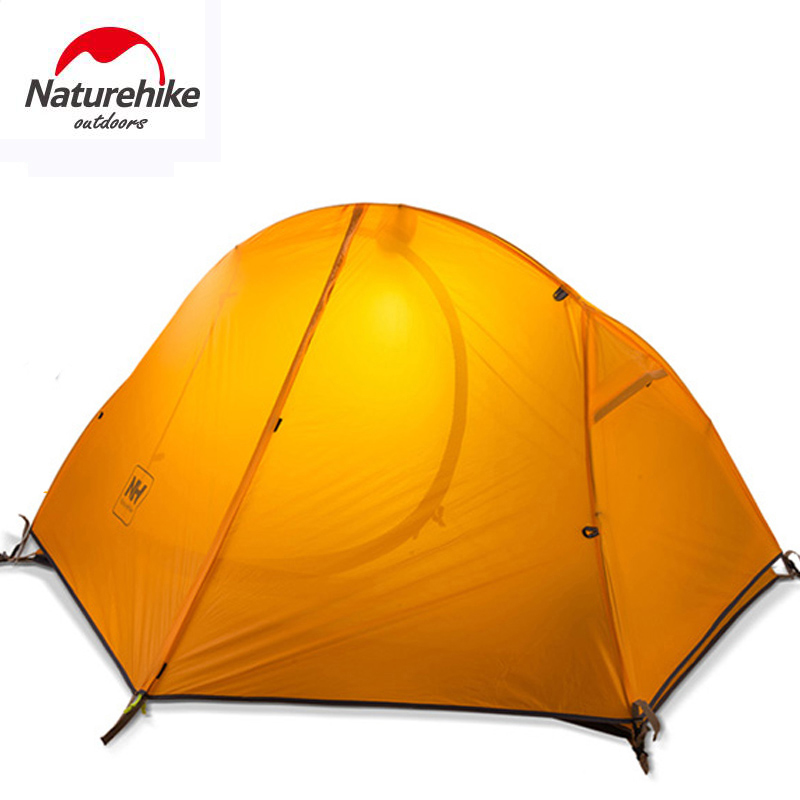 NATUREHIKE ultralight tent 1 person outdoor camping Tent trekking hiking waterproof tourist tents Single carpas barraca tenda NH high quality outdoor 2 person camping tent double layer aluminum rod ultralight tent with snow skirt oneroad windsnow 2 plus