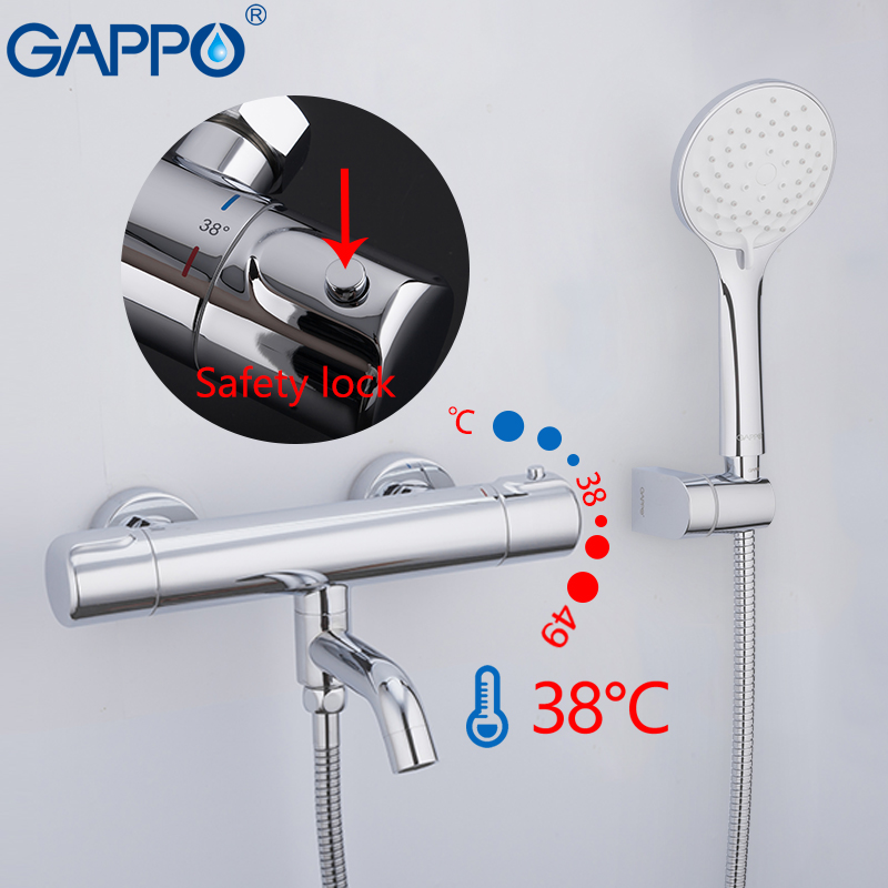 GAPPO Bathtub Faucet bathroom faucets mixer waterfall thermostatic shower mixers faucet bathtub thermostat tap bath shower gappo bathtub faucet thermostatic shower mixers in wall faucets shower faucet thermostatic thermostat taps