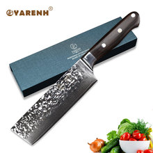 YARENH 6.5 inch chef knife Japanese Damascus nakiri vegetable High Carbon Stainless Steel Kitchen Knives