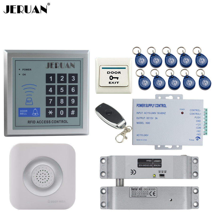 JERUAN RFID Password Access Controller Door control system kit +Remote control + Exit Button +Doorbell In stock Free shipping powers master handbook of ic circuits paper on ly