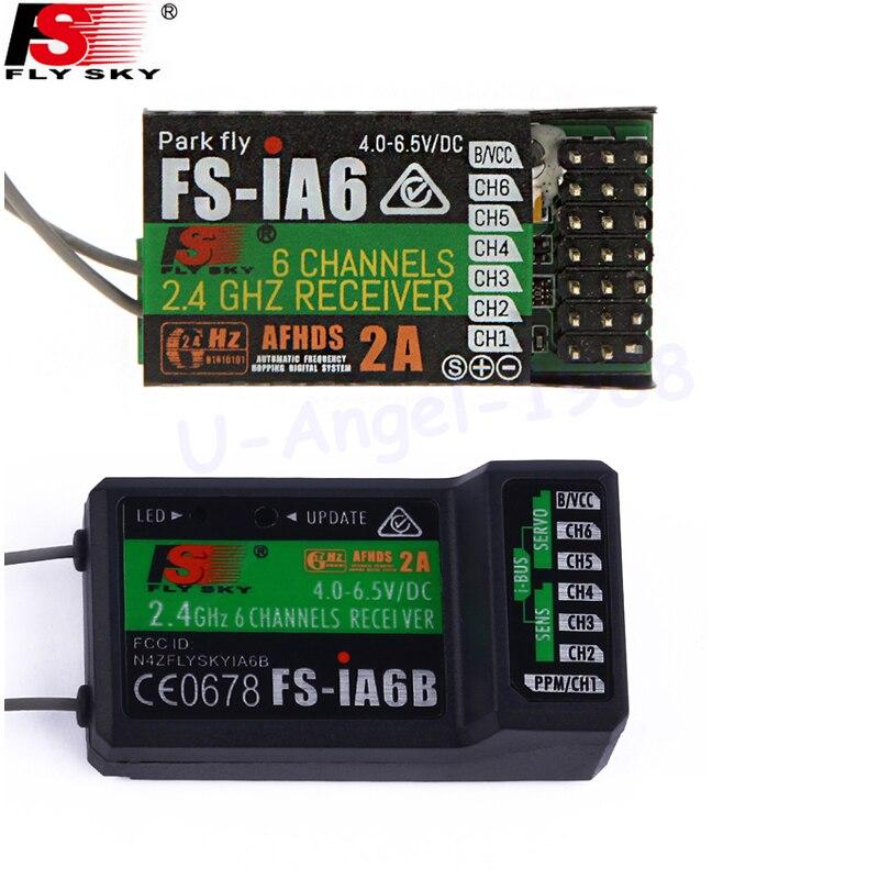 Flysky FS-iA6 FS-iA6B 6CH 6 canales receptor de control remoto compatible flysky I4 I6 i10 GT2E GT2F GT2G transmisor