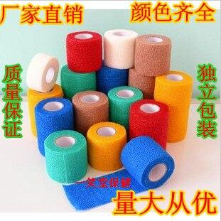 Sports bandage self-adhesive bandage medical ankle support basketball elastic crepe bandage tape pet belt 5cm self adhesive bandage 100% cotton fitted sports bandage elastic tape medical