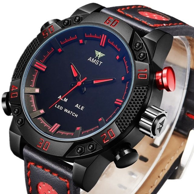 Top Brand Luxury AMST Mens Digital-watch Sports Watches Waterproof Male Clock Men's Wrist Watches Quartz-watch Relogio Masculino