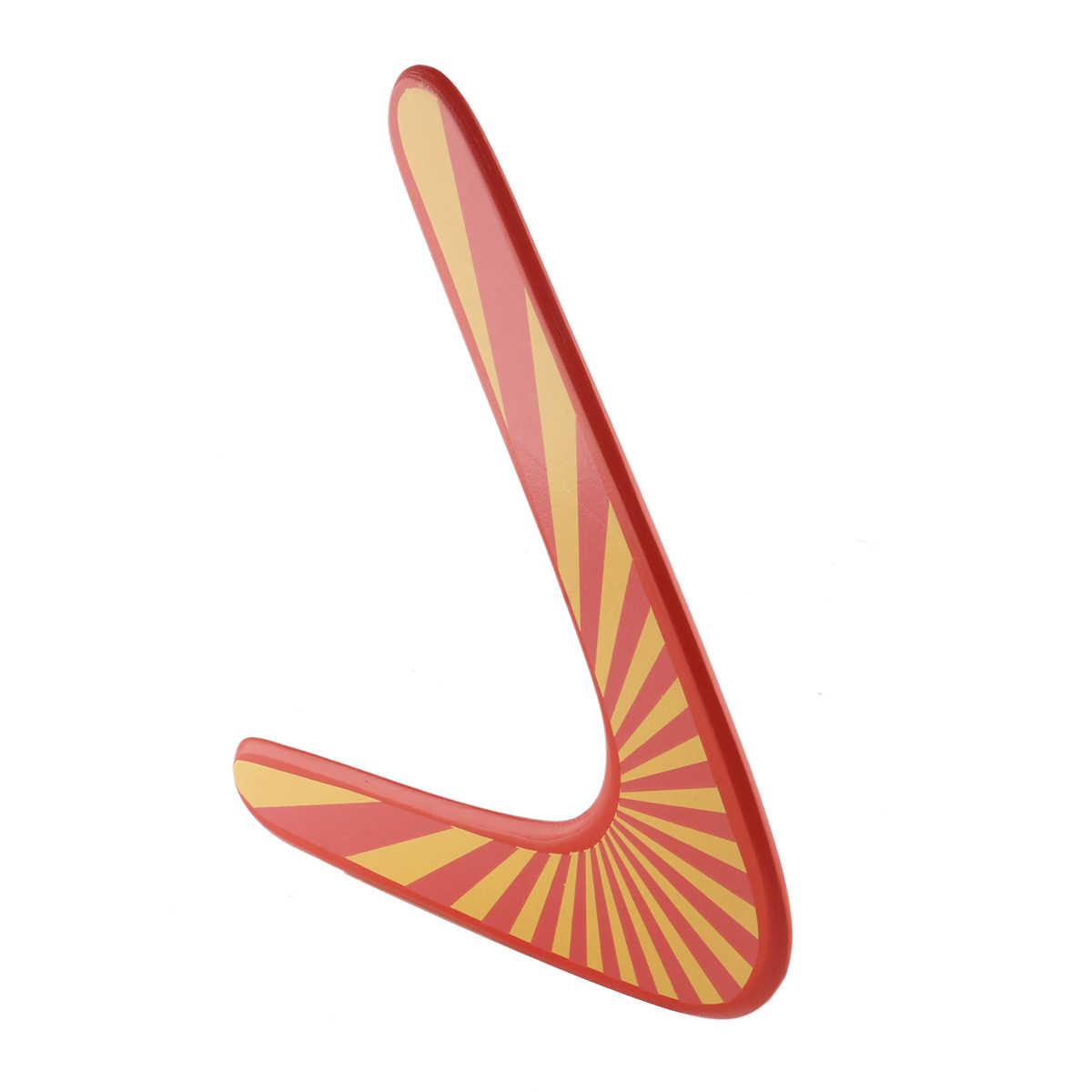 المهنية الخشب Boomerang لعب رياضية دي Madera Bois الاطفال لعبة تحلق في الهواء الطلق الخامس على شكل يرتد نبال مضحك الصحن رمي الصيد