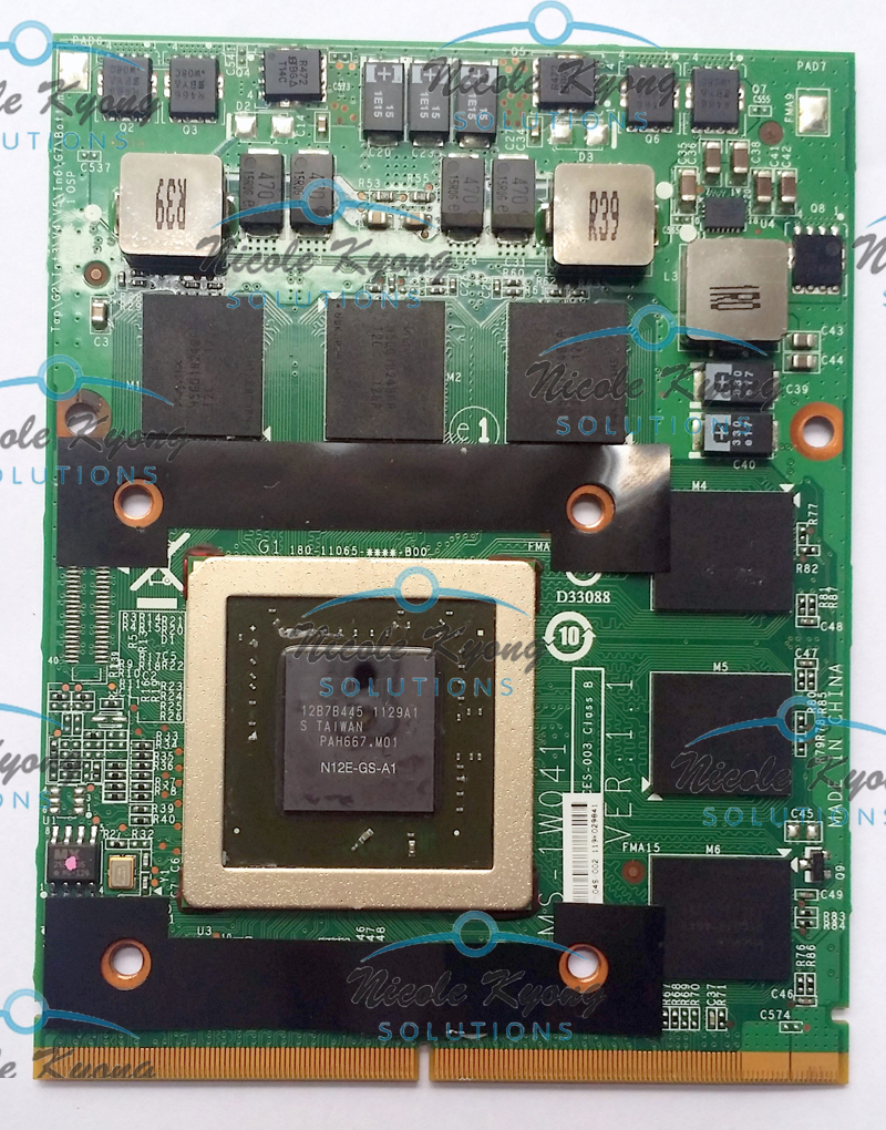GTX 560M N12E-GS-A1 1.5G MS-1W041 VGA Video Card for MSI 16F1 16F2 1656 1727 GX740 GX640 GT660 GT780 GT663 GX660 GT680 GT683