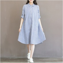 New Fashion Maternity T shirt Dress Cotton A Linen Clothes For Pregnant Women Dress Tops Long