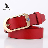 2016 New Designer Brand Women S Strap Fashion Casual All Match Womens Cowskin Leather Belt For