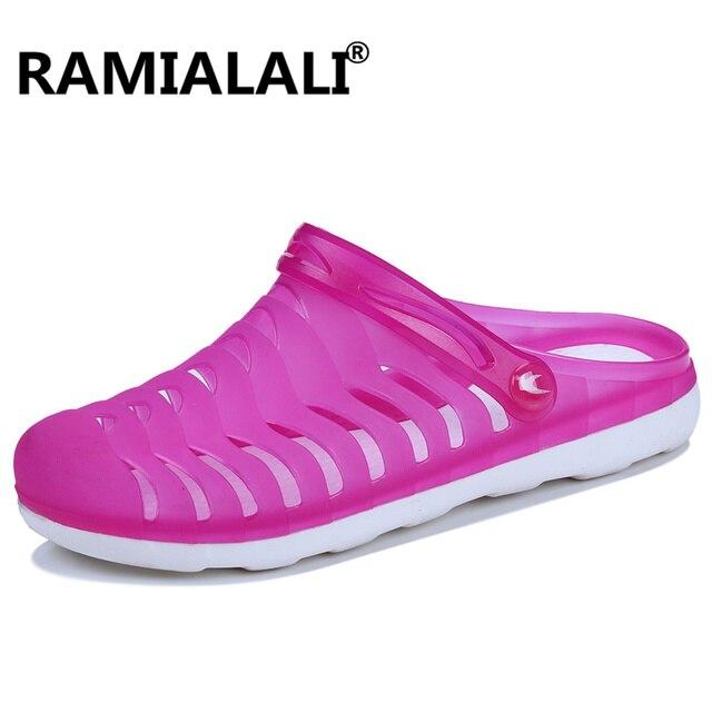 4b82e7d7fc70 Ramialali Summer Beach Women Sandals Closed Toe Breathable Water Sandals  Garden Mules Clogs Flip Flops Sandalies