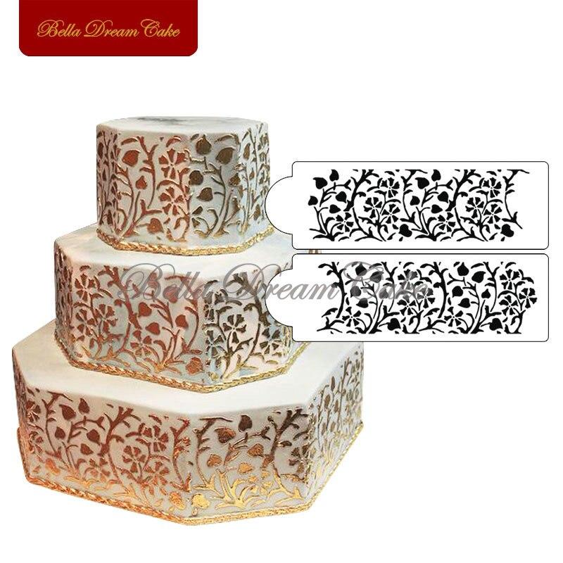 Online kaufen gro handel floral wandschablone aus china floral wandschablone gro h ndler - Wandschablone kuche ...