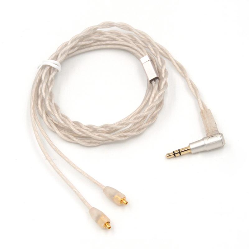 Prix pour NICEHCK 8-cores Pur Argent Écouteurs Mets Câble Custom Made Pour Shure SE535 SE846 UE900 DZ7 DZ9 DZX LZ A3 QT5 MMCX Câble
