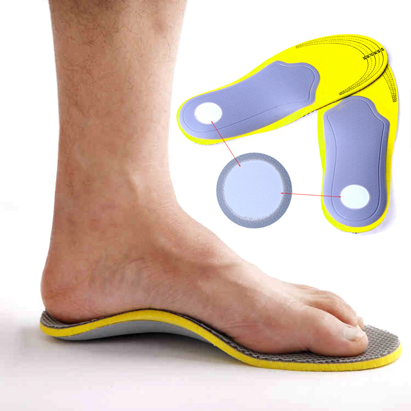 Wholesale 1 Pair Adults Breathable Comfortable Orthopedic Insoles Flat Foot Insert Support Pads Inlegzolen Camping Shoes Tools