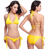 Maxmessy Spring Summer Swimwear Swimming Suit Long Removable Pad Sexy Women Beach Bikini Sets Bra Thong Spa Surf Swimsuit