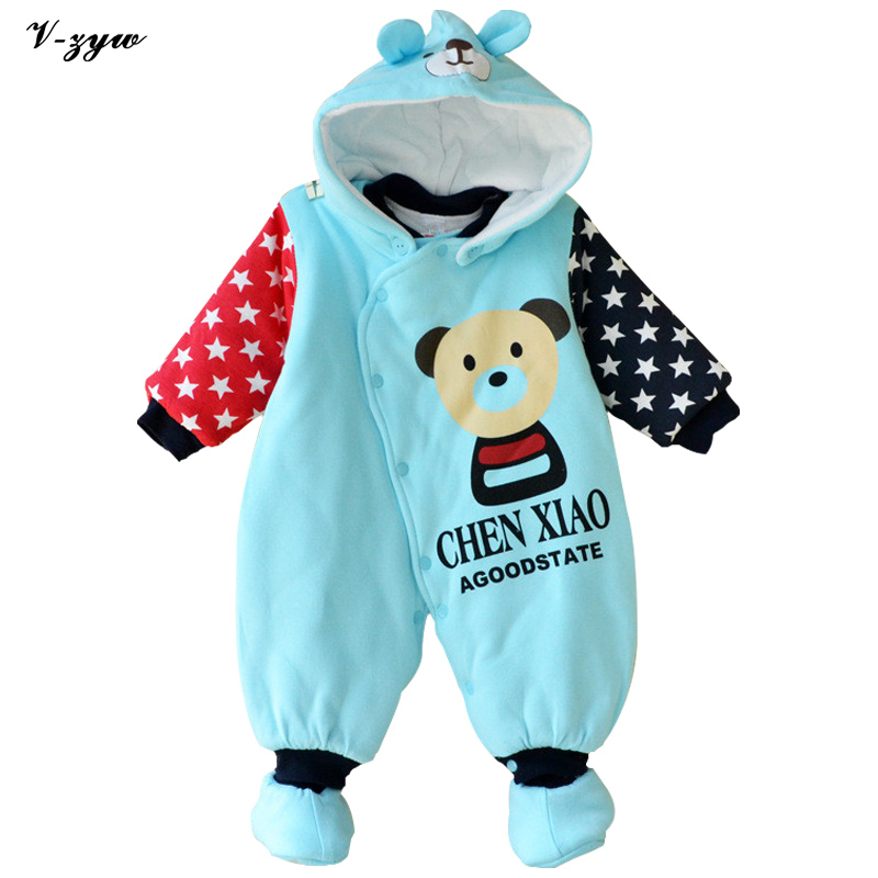 Winter Baby Rompers Long Sleeve Baby Boy Clothing Jumpsuits Children Warm Clothing Newborn Baby Clothes Cotton Baby Rompers unisex baby boys girls clothes long sleeve polka dot print winter baby rompers newborn baby clothing jumpsuits rompers 0 24m