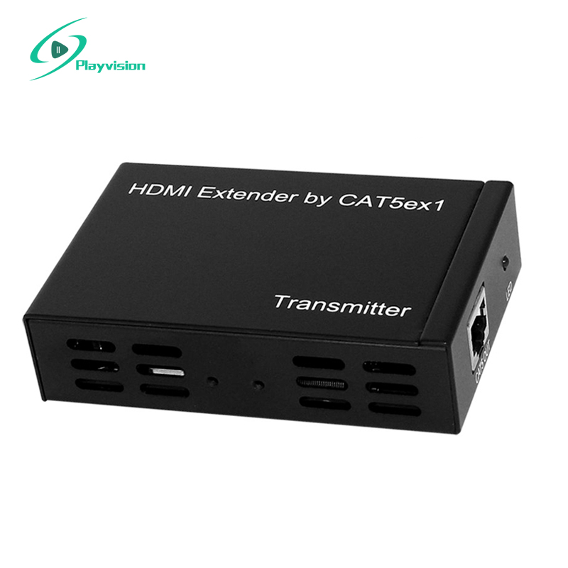 Playvision HDMI Extender 100m over one CAT5E/CAT6(TCP/IP) 80 channels hdmi to dvb t modulator hdmi extender over coaxial