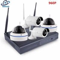 SSICON 4CH 1.3MP домашней безопасности Wi Fi Беспроводной IP Камера Системы 960 P комплект видеонаблюдения Открытый Wi Fi Камера видео NVR наблюдения компл
