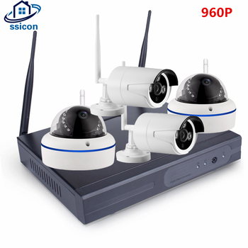 SSICON 4CH 1.3MP Home Security Wifi Wireless IP Camera System 960P CCTV Set Outdoor Wifi Camera Video NVR Surveillance CCTV Kit anran 4ch hd 720p hd wifi nvr 7 lcd monitor 1 0 megapixel outdoor security wireless ip camera video surveillance system for home