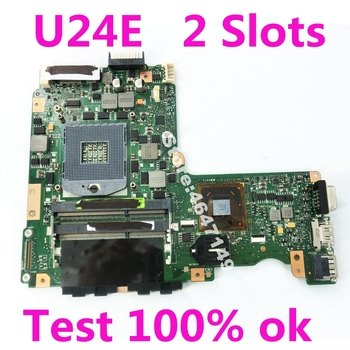 U24E HM65 Mainboard REV 2.0 For ASUS U24 P24E Laptop Motherboard DDR3 PGA989 U24E Mainboard U24E Motherboard Test 100% OK