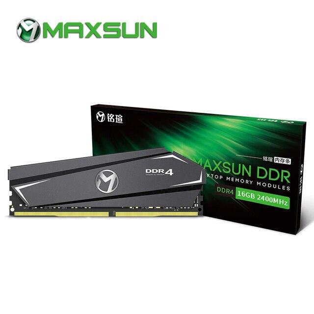 Maxsun ram ddr4 16 Гб памяти 2400/2666 МГц радиатор 288pin пожизненная гарантия одна память оперативная память ddr 4 Настольный dimm для AMD intel