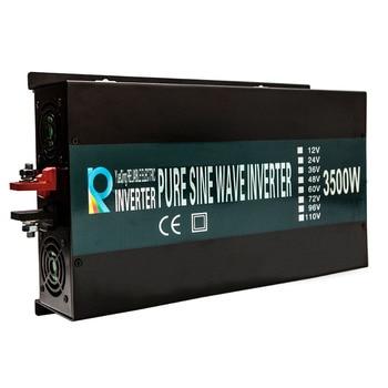 Off Grid 3500W Pure Sine Wave Solar Inverter 24V 220V Car Power Inverter 12V/24V DC to 100V/120V/240V AC Converter Power Supply 5