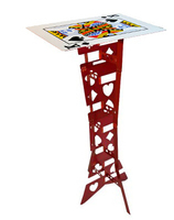 Aluminum Alloy Magic Folding Table Red Poker Table Magician S Best Table Magic Tricks Stage Illusions