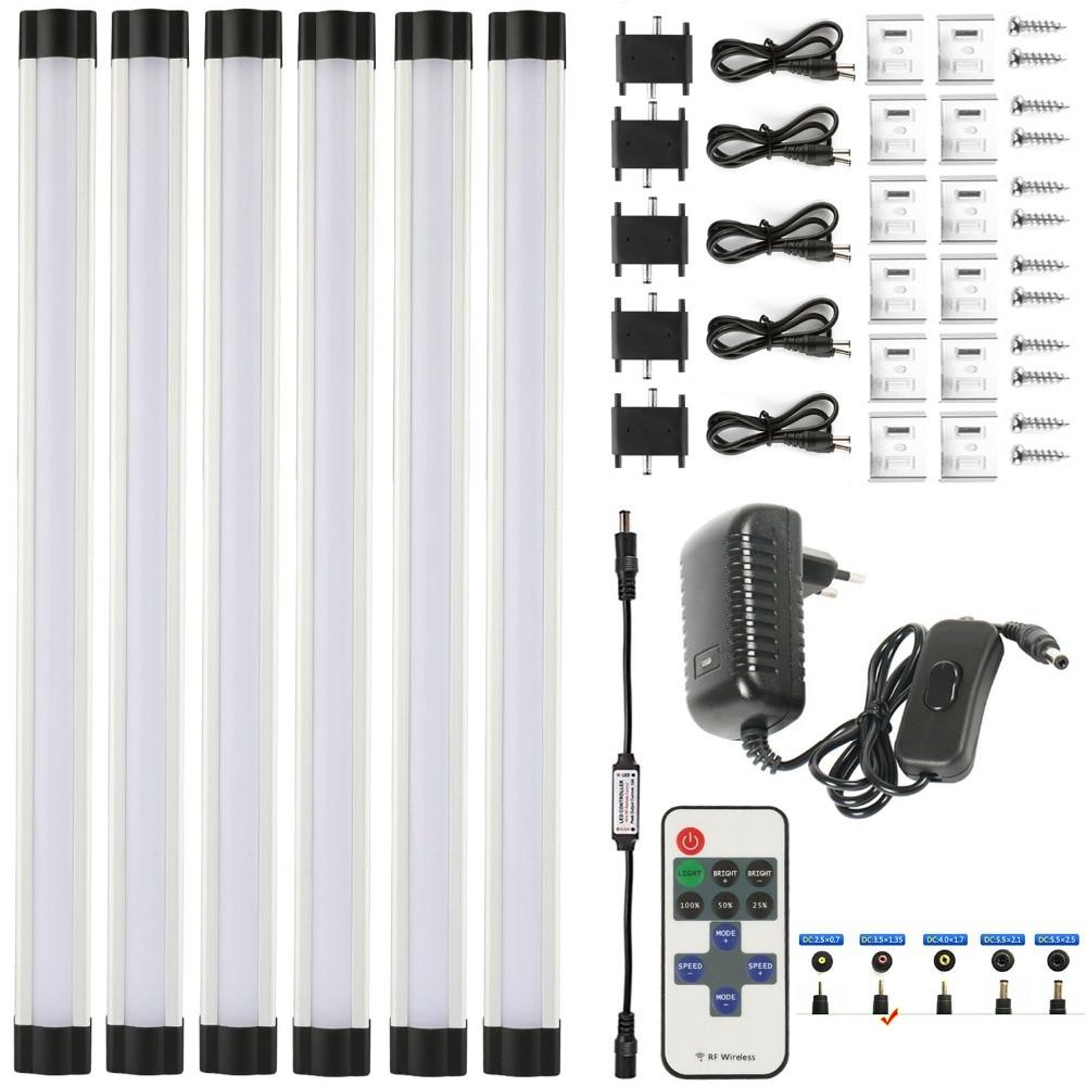 Led Bande 18 w SMD2835 froid/chaud blanc 0.3 m * 3 w avec télécommande (Utiliser la bouton batterie) dimmable LED bande pour la cuisine