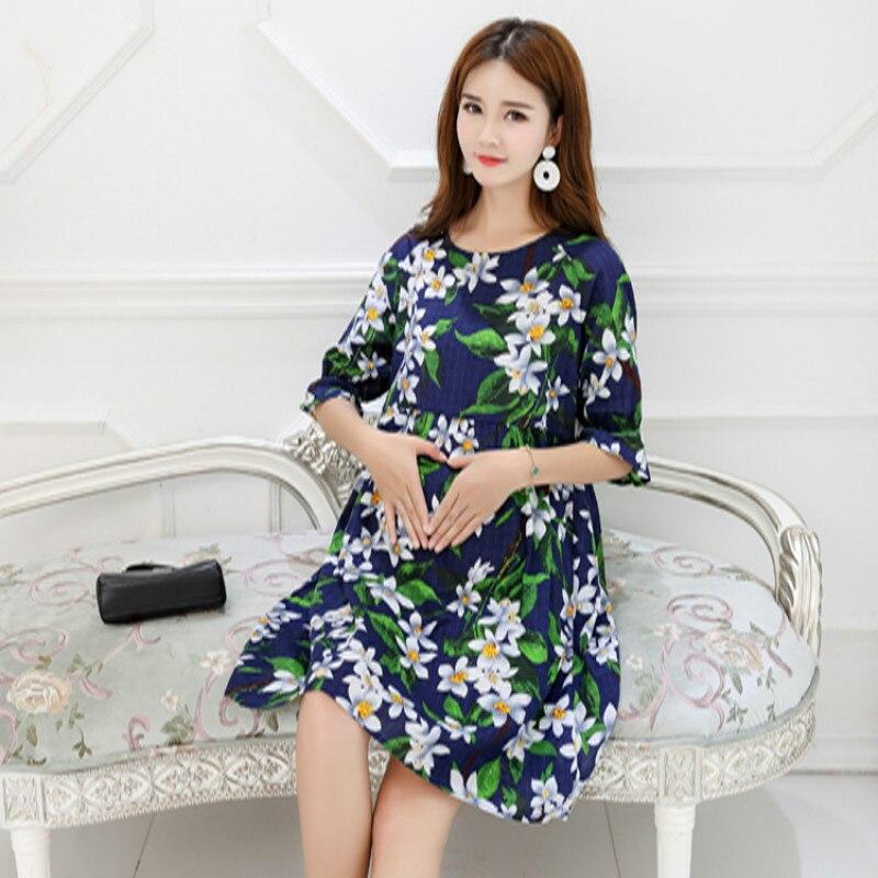 Mode imprimé linge de maternité robes vêtements pour femmes enceintes été casual maternité robe Floral grossesse fête vêtements