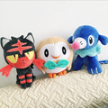 "3pcs/lot 8""20cm Rowlet Popplio Litten Plush Toys Stuffed Animals Soft Dolls With Tag #SG171223"