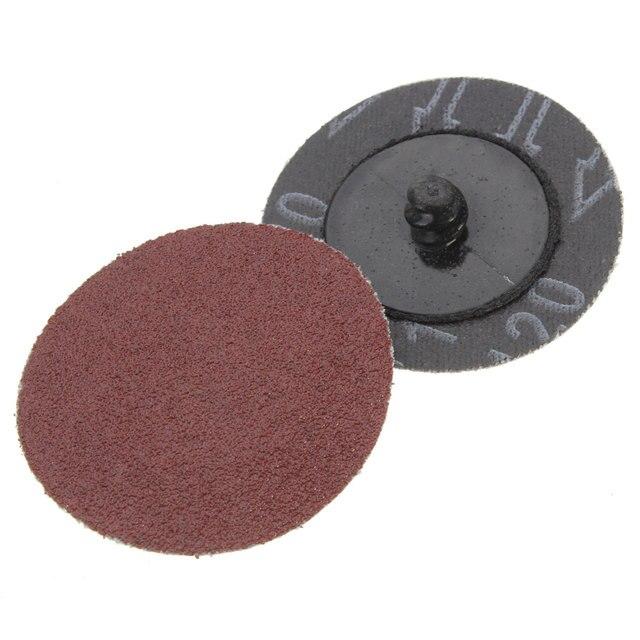 Best Top Selling 50Pcs Lot 120 Grit 2 Roll Lock Sanding Discs Abrasive