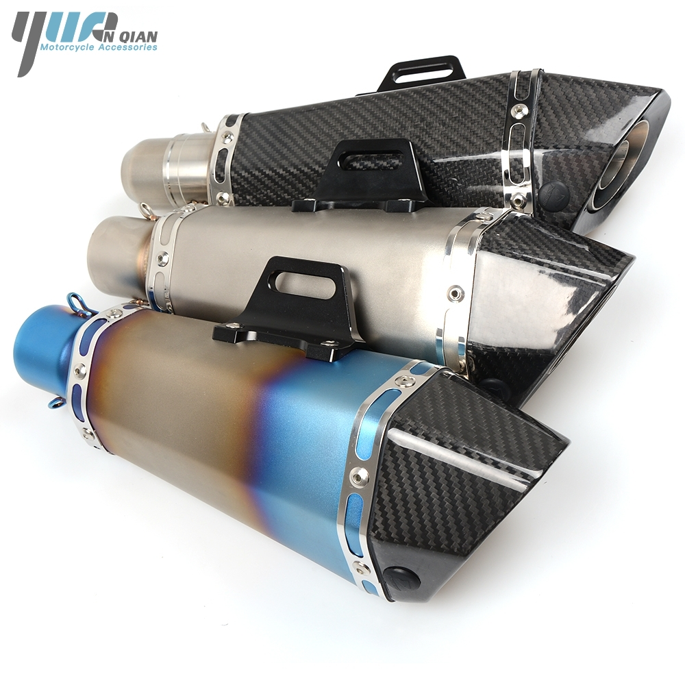 YUANQIAN Brand new Exhaust Pipe Muffler Pipe For MOTO GUZZI BREVA 1100 2006-2012 Suzuki GSR600 2006-2011 GSXR1000 GSXR750 for moto guzzi breva 850 1100 1200 griso breva 1100 norge 1200 gt8v motorcycle long and short brake clutch levers cnc shortly