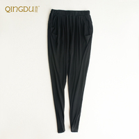 Heavy Weight 180g Silk Casual Pants 100% Silk Twisting And Thickening Double Knitted Loose Haren Trousers