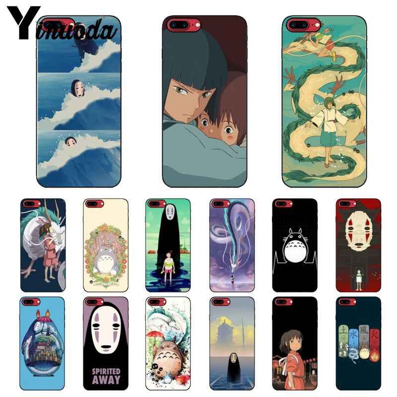 Yinuoda Cartoon Studio Ghibli Spirited Away Totoro Soft TPU Phone Cover for Apple iPhone 8 7 6 6S Plus X XS MAX 5 5S SE XR Cover