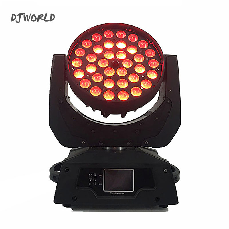 DJWorld LED 36x12W Zoom Wash LED Moving Head Light RGBW 4in1 DMX Stage Light Effect Disco Stage Lighting Professionals Wedding factory price 4pcs led moving head zoom wash light 36x10w rgbw 4 in1 stage night club disco bar uplighting fast