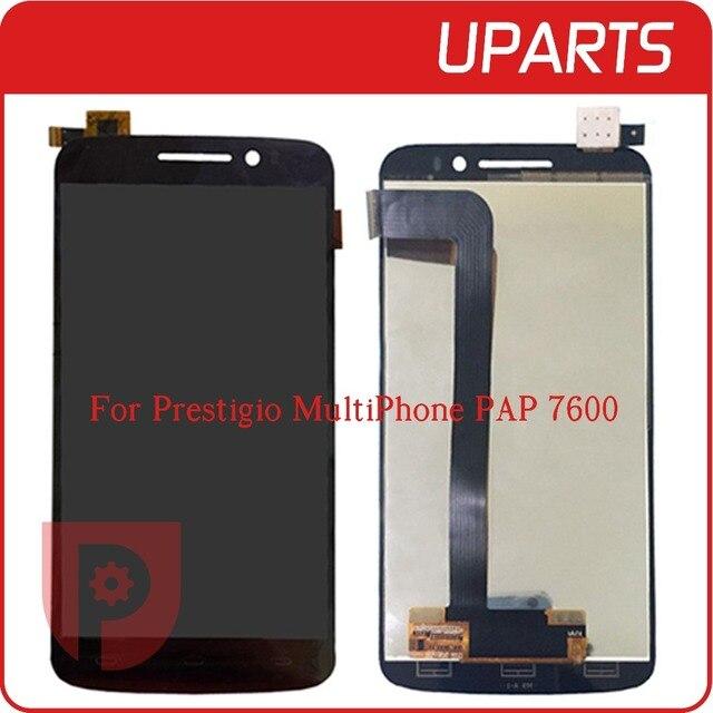 Высокое Качество Для Prestigio MultiPhone PAP 7600 DUO PAP7600 ЖК-Дисплей С Сенсорным Экраном Замена Стекла Digitizer Ассамблеи