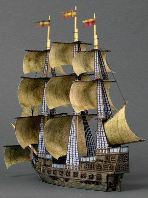 Pirate Ship Ghost 3D Paper Model Boat Origami Handmade Diy Art Toy In Building Kits From Toys Hobbies On Aliexpress