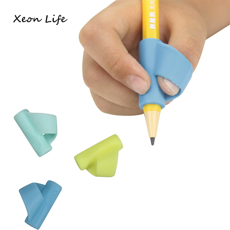 ISHOWTIENDA 3PCS/Set Children Pencil Holder Pen Writing Aid Grip Posture Correction Tool New Correct Pencil Grip Posture Pencil