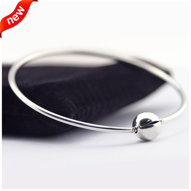 Essence Clasp Bangle 925 Sterling Silver Jewelry Free Shipping