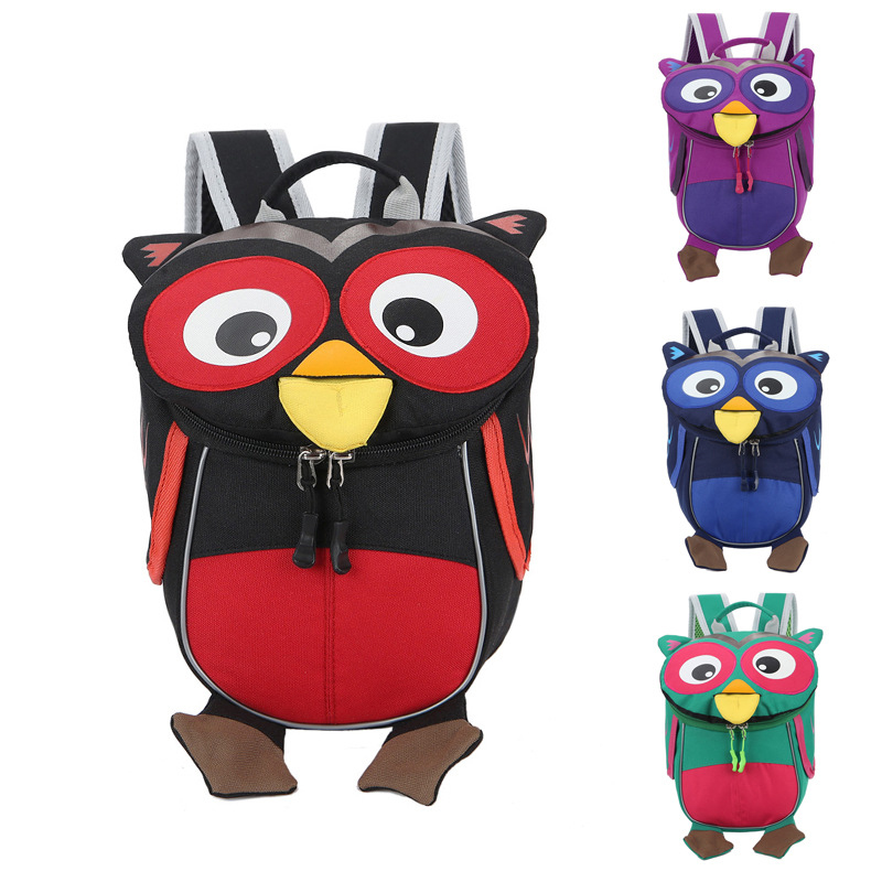 Kindergarten Aged 1-3 Toddler Backpack Safe Kids Baby Student Cute Animal Owl Children Backpacks Book School Bag Mochila Escolar