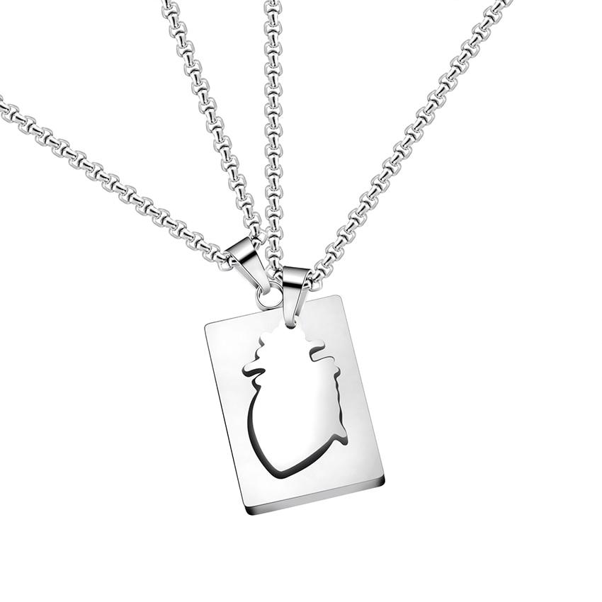 GORGEOUS TALE Fashion Trendy Style Mens Women Jewelry Lovers Korean Style Mens Titanium Steel Chain Organ Heart Pendant Necklace