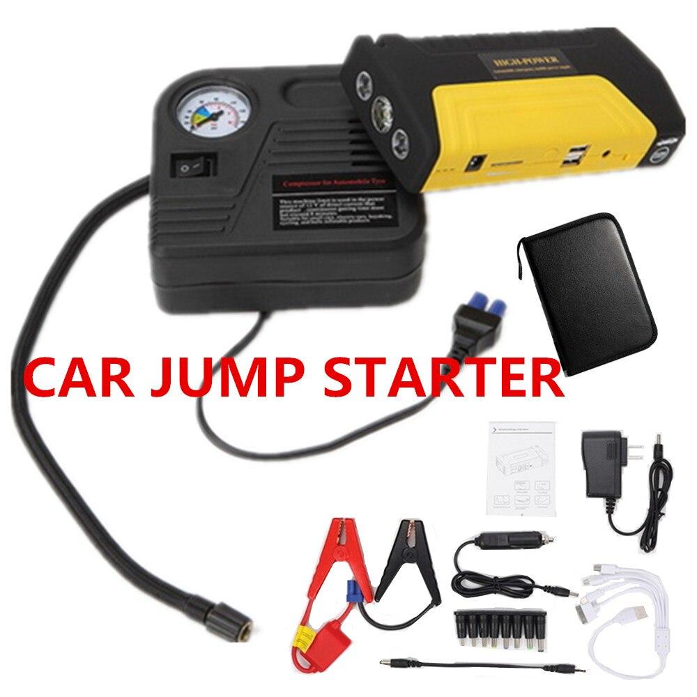 Новый автомобильный пусковой стартер бустер аккумулятор с насосом авто аварийный перезаряжаемый перемычка