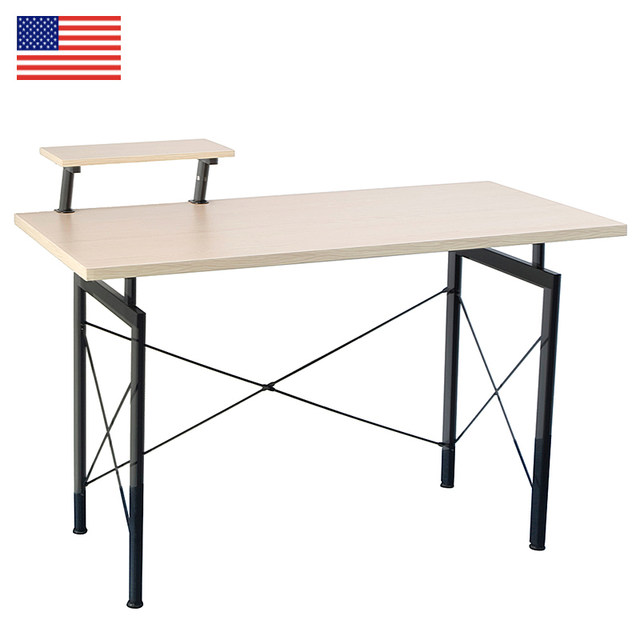 Concise Wooden Computer Desk With Top Shelf Home Office Furniture Desktop Fashion