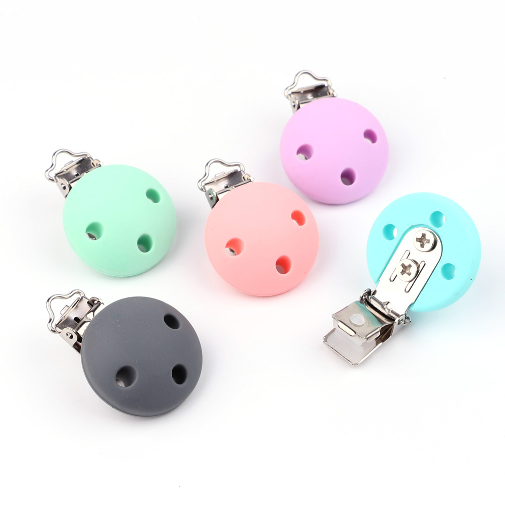 TYRY.HU Round Shaped Pacifier Clip Silicone Bead Baby Teether Teething Accessories Clip Nipple Clasps Toy DIY Bead Tool