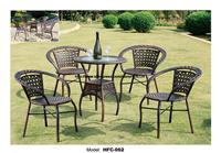Low Price Simple Design Gardern Set 60*65CM Rattan Table 4 Chairs Leisure Outdoor balcony courtyard small yard Rattan furniture